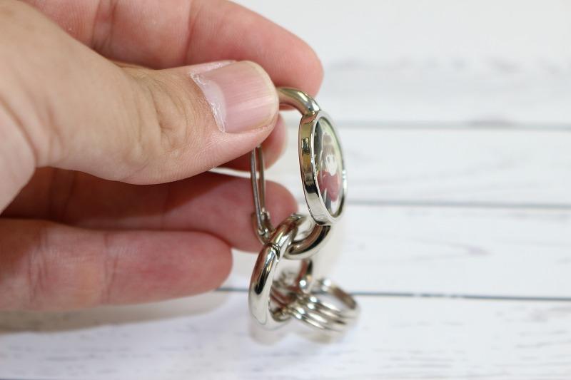 指輪型カラビナキーホルダー、カラビナ